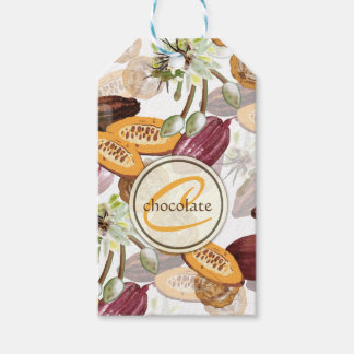 Cocoa Beans, Chocolate Flowers, Nature's Gifts Gift Tags