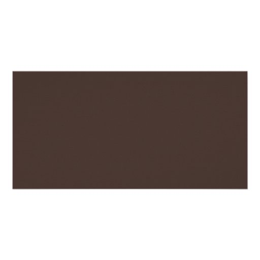 Cocoa Brown Taupe Color Trend Blank Template Customized Photo Card