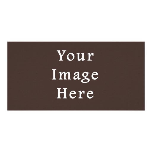 Cocoa Brown Taupe Color Trend Blank Template Photo Card