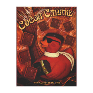 Cocoa Canard Canvas Wrapped Poster Canvas Print