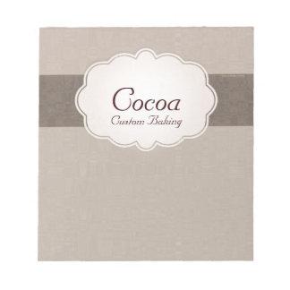 Cocoa Custom Baking Notepads