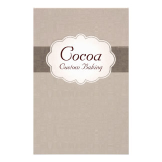 Cocoa Custom Baking Stationery Paper