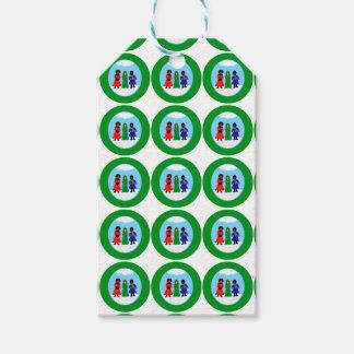 Cocoa Cutie Christmas Carolers II Green Gift Tags