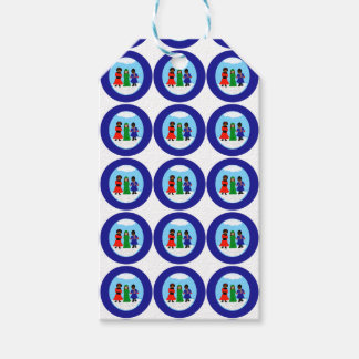 Cocoa Cutie Christmas Carolers II Navy Gift Tags