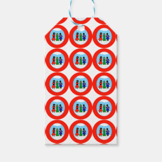 Cocoa Cutie Christmas Carolers II Red Gift Tags