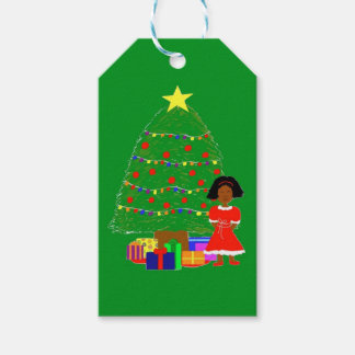 Cocoa Cutie Christmas Tree-Green Gift Tags