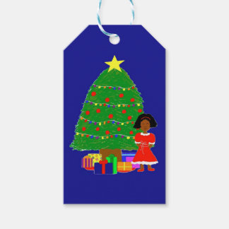 Cocoa Cutie Christmas Tree-Navy Gift Tags