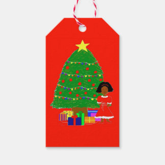 Cocoa Cutie Christmas Tree-Red Gift Tags