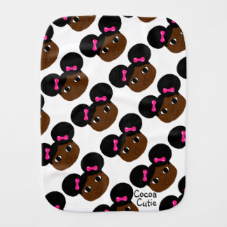 Cocoa Cuties Yanna Burp Cloth (Mocha)