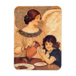 Cocoa Party Candy Angel Vintage Poster Rectangular Photo Magnet