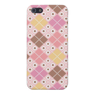 Cocoa & Pink Argyle Pattern iPhone4 Case iPhone 5/5S Cases