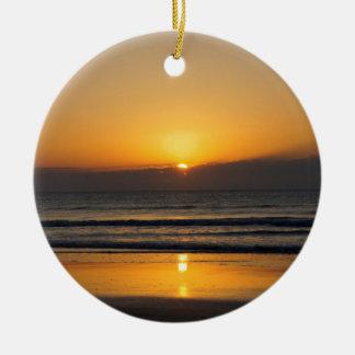 Cocoa Sunrise Christmas Ornament