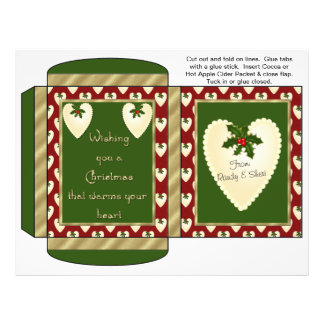 Cocoa, Tea, Cider Packet Holiday Christmas Favors Flyer