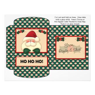Cocoa, Tea, Cider Packet Santa Christmas Favors Flyer