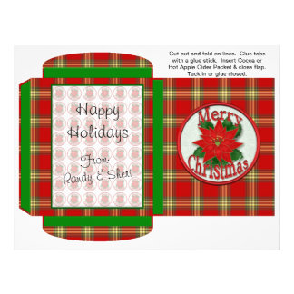 Cocoa, Tea, Cider Packet Winter Christmas Favors 21.5 Cm X 28 Cm Flyer