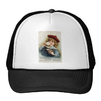 Cocoa vintage poster trucker hat