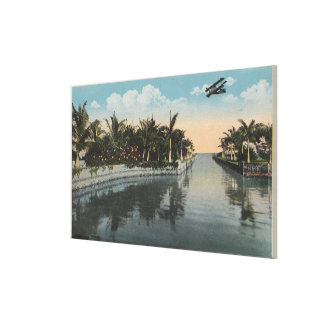 Cocoanut Grove, FL - Curtis James Estate Canal Gallery Wrap Canvas