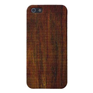Cocobolo Wood Grain iPhone 5/5S Cases