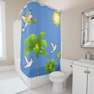 Coconut bird shower curtain