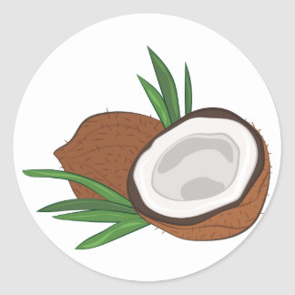 Coconut Classic Round Sticker