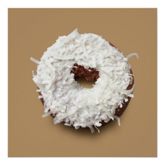 Coconut donut poster (on mocha)