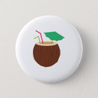 Coconut Drink 6 Cm Round Badge