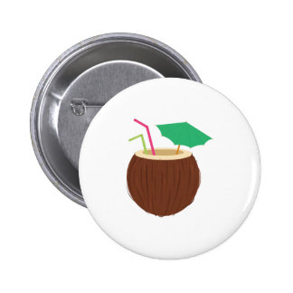 Coconut Drink 6 Cm Round Badge