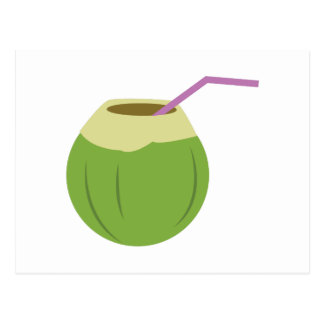 Coconut Drink Postcard