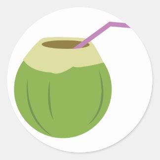 Coconut Drink Round Sticker