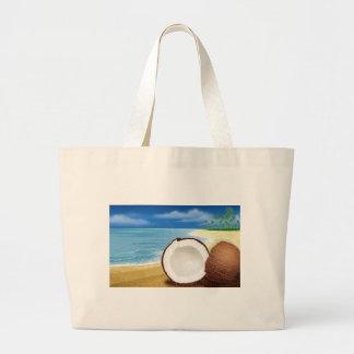 Coconut Getaway Canvas Bag
