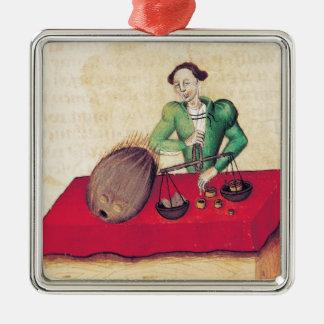 Coconut Merchant from the 'Tractatus de Christmas Ornament