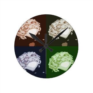 Coconut Mushroom Pop Art Wall Clock
