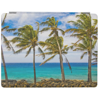 Coconut palm trees (Cocos nucifera) swaying in iPad Cover