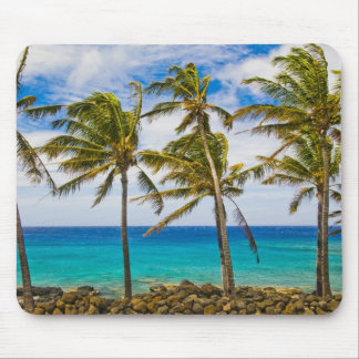 Coconut palm trees (Cocos nucifera) swaying in Mouse Mat