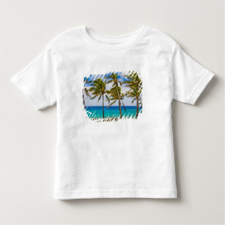 Coconut palm trees (Cocos nucifera) swaying in Toddler T-Shirt