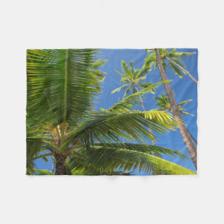Coconut palms, Pu'uhonua o Honaunau 1 Fleece Blanket