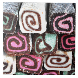 Coconut Roll Treats Large Square Tile