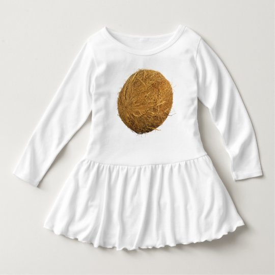 Coconut Toddler Ruffle Dress