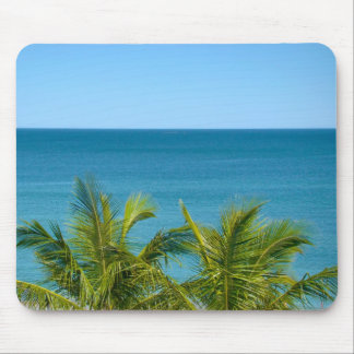 coconut tree and ocean mouse pad