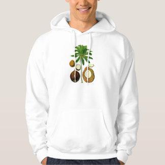 Coconut Tree Botanical Illustration Sweatshirts