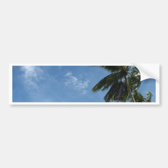 Coconut tree bumper sticker