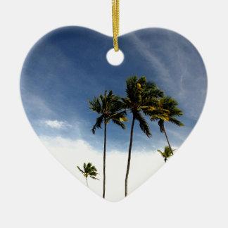 Coconut Trees Beach Brazil Christmas Ornament