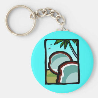 Coconuts and Palms Key Ring