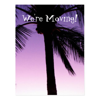 Coconuts in the Wind; Change of Address Postcard