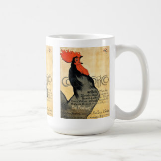 """Cocorico"" and Théophile Alexandre Steinlen Basic White Mug"