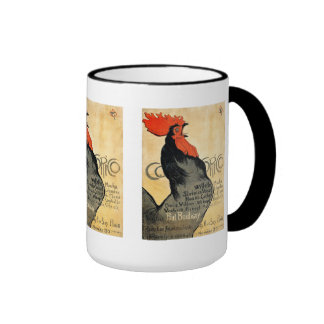 """Cocorico"" and Théophile Alexandre Steinlen Ringer Mug"
