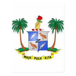 Cocos Island Coat of Arms Postcard