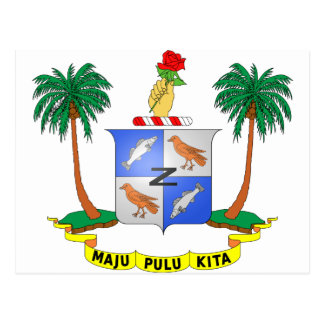 Cocos Island Coat of Arms Post Cards