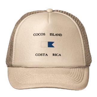 Cocos Island Costa Rica Alpha Dive Flag Hat
