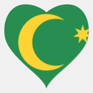 Cocos Islands Flag Heart Sticker